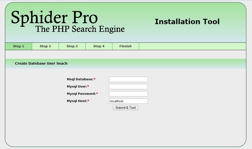 Sphider Pro instalation image 1