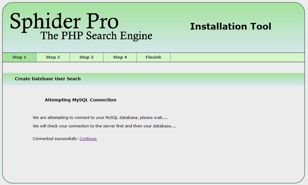 Sphider Pro instalation image 2