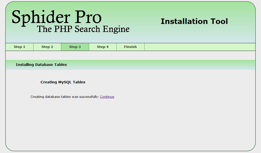 Sphider Pro instalation image 3