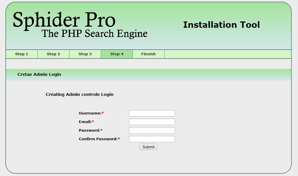 Sphider Pro instalation image 4